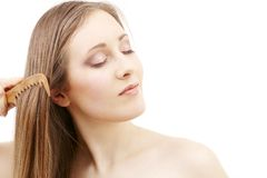 Combing beauty Stock Photo