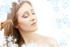 Combing beauty Stock Images