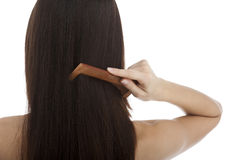 Combing Hair Royalty Free Stock Photo