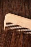 Combing hair stock photos