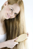 Combing woman Stock Photography