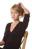 Combining hair into bun Stock Image