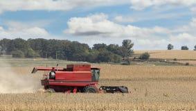 Combining Soybeans Stock Photos