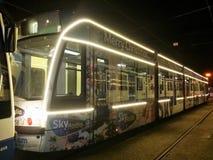Combino-Tram in Amsterdam Stockfoto