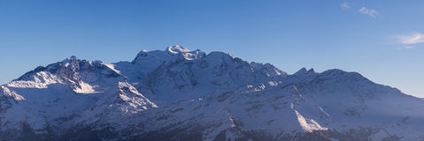 Combins winter panorama Royalty Free Stock Images