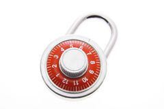 Combintion Lock. Combination Lock on White Background stock image