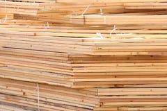 Combles en bois empilés Photographie stock libre de droits