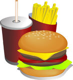γεύμα απεικόνισης combo Στοκ φωτογραφία με δικαίωμα ελεύθερης χρήσης