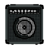 Combo Amplifier for guitar. Combo Amplifier for electric guitar isolated on white background vector illustration Stock Photos