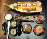 Combo av den japanska sushi Royaltyfri Foto