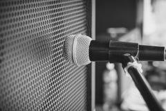 Combo förstärkare för mikrofon arkivfoto