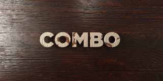 Combo - grungy drewniany nagłówek na klonie - 3D odpłacający się królewskość bezpłatny akcyjny wizerunek Obrazy Stock