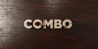 Combo - grungy houten krantekop op Esdoorn - 3D teruggegeven royalty vrij voorraadbeeld Stock Afbeeldingen