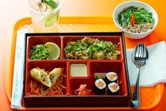 Combo lunchask Fotografering för Bildbyråer