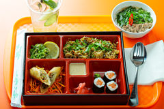 Combo lunchu pudełko Obraz Stock
