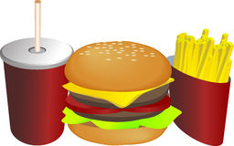 Combo meal illustration Royalty Free Stock Photos