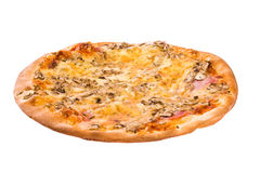 Combo pizza. Fresh hot pizza with tons of cheese royalty free stock images