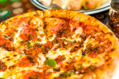 Combo pizza Stock Images