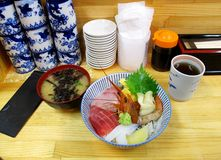 Combo risbunke för sushi. Royaltyfri Bild