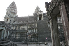 Combodia寺庙密林 图库摄影