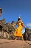 Combodia dancing girl Royalty Free Stock Images