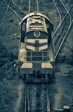 Comboio de mercadorias velho. fotografia de stock