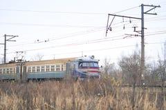 Comboio de passageiros foto de stock