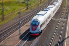 Comboio de passageiros de alta velocidade imagem de stock royalty free