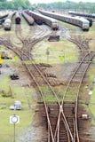 Comboio do cambista e do trem imagem de stock