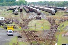Comboio do cambista e do trem imagens de stock royalty free