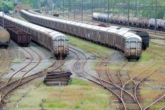 Comboio do cambista e do trem fotografia de stock royalty free
