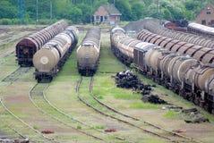 Comboio do cambista e do trem imagens de stock