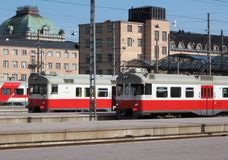 Comboios da periferia Foto de Stock Royalty Free