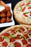 Comboovereenkomst van de pizza stock foto's