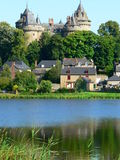 Combourg Castle (France). View of the Combourg Castle from the pond Stock Photography