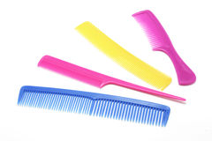 Combs. Selection of Combs on White Background Stock Photos