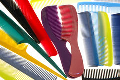 Combs. On White royalty free stock photography