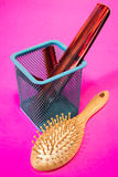 Combs and brush. Types of combs and brush Royalty Free Stock Photo