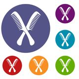 Combs icons set Royalty Free Stock Photos