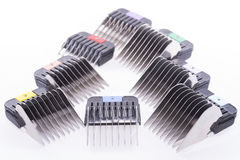 Combs for trimmer. Royalty Free Stock Photos