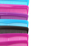Combs. On a white background Royalty Free Stock Photos
