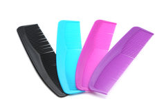 Combs. On a white background Stock Photos