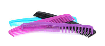 Combs. On a white background Royalty Free Stock Photo