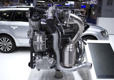 Combustível do eco do motor de automóveis Fotografia de Stock