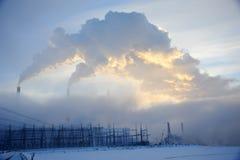 Combustível e produção de electricidade imagem de stock