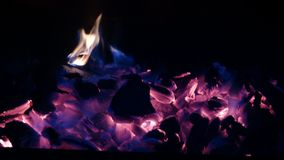 Combustión del carbón de leña Imagen de archivo libre de regalías