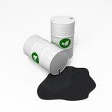 Combustibile biologico ed olio Fotografia Stock Libera da Diritti