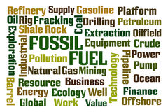 Combustibile fossile Fotografie Stock