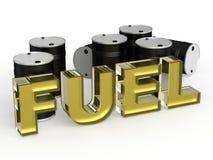 Combustible con el barril ilustración del vector