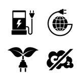 Combustible de Eco Iconos relacionados simples del vector Foto de archivo